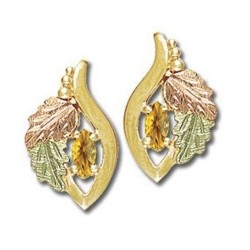 Landstrom's® 10K Black Hills Gold Earrings with Citrine