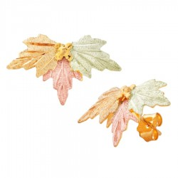 10K Black Hills Gold Lovely Leaf Earrings by Landstrom's®
