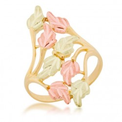10K Black Hills Gold Ladies' Multi-Leaf Bypass Ring