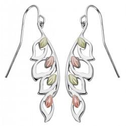 Black Hills Gold on Sterling Silver Leaf Earrings by Landstrom's®