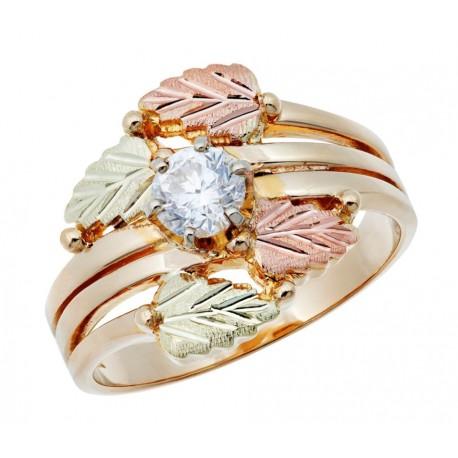 10K Black Hills Gold 1/4 ct. tw. Round Diamond Solitaire Ring