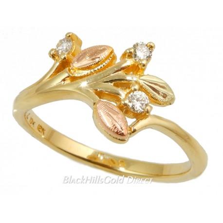Landstrom's® Stunning Black Hills Gold Tri-color 2BeLoved Diamond Ring