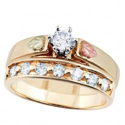 Landstrom's® 10K Black Hills Gold Engagement Ring w .15Ct Diamond