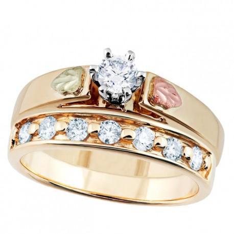 Landstrom's® Stunning Black Hills Gold Diamond Ring Set ...