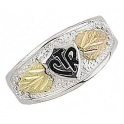 Black Hills Gold on Sterling Silver Men's CTR Ring