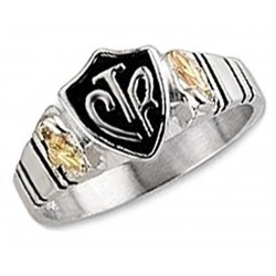 Black Hills Gold on Sterling Silver CTR Mens Ring