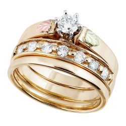 Landstrom's® Stunning Black Hills Gold Diamond Ring Set