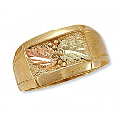 Men`s 10K Black Hills Gold Ring By Landstroms