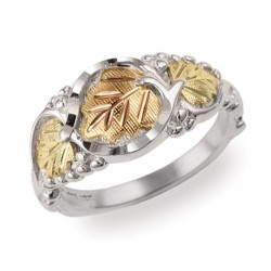Black Hills Gold Sterling Silver Ladies Ring by Mt. Rushmore