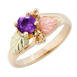10K Black Hills Gold Ladies Ring with Amethyst by Landstrom's®