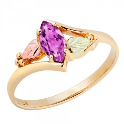 10K Black Hills Gold Ladies Ring with Alexandrite by Landstrom's®