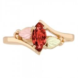 10K Black Hills Gold Ladies Ring with Garnet by Landstrom's®