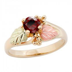 10K Black Hills Gold Ladies Ring with 5MM Garnet by Landstrom's®