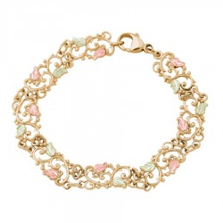 Landstrom's® Filigree 10K Yellow Gold Ladies Bracelet