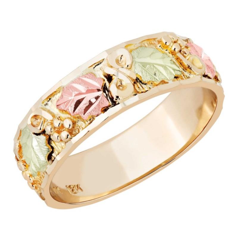 Landstrom's® 10K Ladies Black Hills Gold Wedding Band Ring
