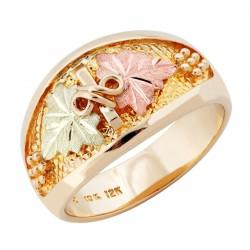 Landstrom's® Original 10K Black Hills Gold Men's Ring with Grapes