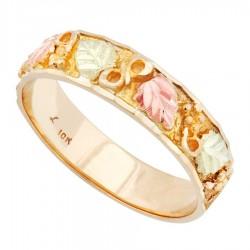 Landstrom's® Original 10K Black Hills Gold Men's Band Ring
