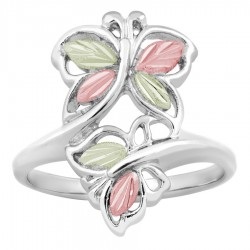 Landstrom's® Sterling Silver Black Hills Gold Modern Butterfly Ring