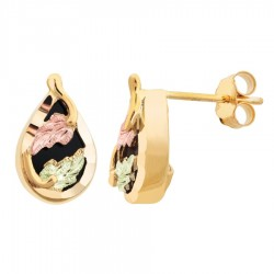 Mt. Rushmore 10K Gold Teardrop Earrings with Onyx