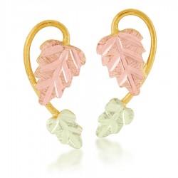 Mt. Rushmore 10K Yellow Gold Ladies Earrings