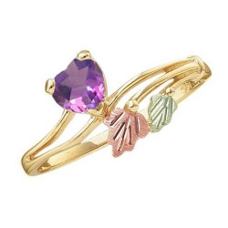 Mt. Rushmore 10K Gold Ladies Ring with Amethyst