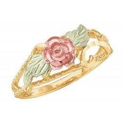 Mt. Rushmore 10K Gold Ladies Rose Ring