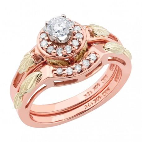 Landstrom's® 10K Black Hills Rose Gold Wedding Ring Set