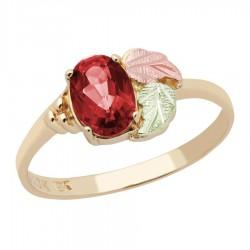 Landstrom's® 10K Black Hills Gold Ladies Ring with Garnet