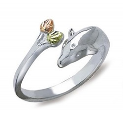 Landstrom's® Sterling Silver Adjustable Dolphin Toe Ring