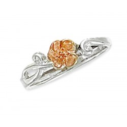 Landstrom's® Sterling Silver Adjustable Toe Ring with 10K Gold Rose