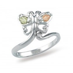 Landstrom's® Black Hills Gold on Sterling Silver Butterfly Adjustable Toe Ring