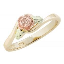 Size 7.5 Landstrom's® 10K Black Hills Gold Rose Ring