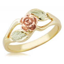BLACK HILLS GOLD ROSE FLOWER RING
