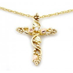 Landstrom's® 10K Black Hills Gold Cross Pendant with Diamond