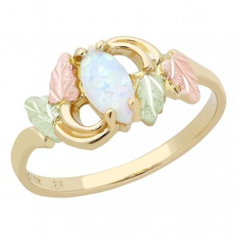 Landstrom's® 10K Black Hills Gold Opal Ring