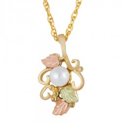 Landstrom's® Small 10K Gold Pendant with Pearl