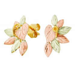 Landstrom's® Small 10K Black Hills Gold Flower Earrings