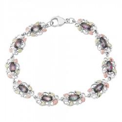 Landstrom's® Sterling Silver Bracelet with Mystic Fire Topaz