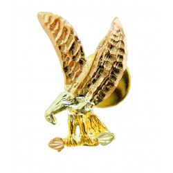 Landstrom's® 10K Black Hills Gold Eagle Tie Tack / Label Pin