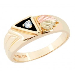 Landstrom's® 10K Black Hills Gold Ladies Ring with .05CT Diamond
