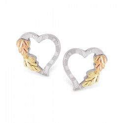Mt. Rushmore Little Sterling Silver Heart Earrings