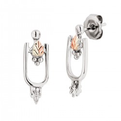 Black Hills Gold on Sterling Silver Small Spur Earrings