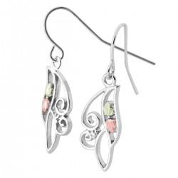Landstrom's® Sterling Silver Small Swirl Earrings