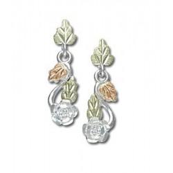 Landstrom's® Sterling Silver Small Dangle Rose Earrings