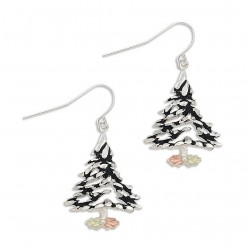 Landstrom's® Sterling Silver Christmas Tree Earrings