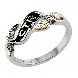 Black Hills Gold Sterling Silver CTR Ring