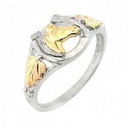 BLACK HILLS GOLD STERLING SILVER HORSESHOE LADIES RING