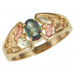 10K BLACK HILLS GOLD LADIES MYSTIC FIRE TOPAZ RING