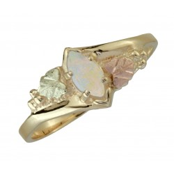 10K Black Hills Gold Ladie's Ring with Opal