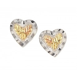 Lovely Mini Sterling Silver Heart Earrings by Mt. Rushmore
